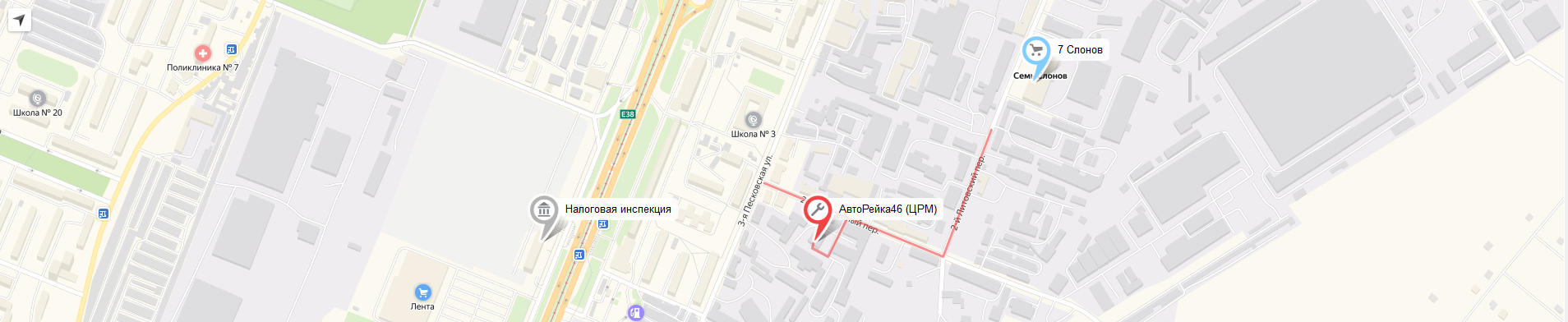 Карта - размещение СТО