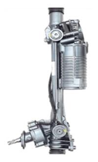 Электрический рулевой механизм с червячным приводом силового вала